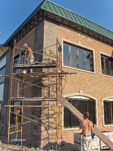 Rosie-O-Gradys_Building-Addition-Face-Brick-And-Stone-Veneer-Installation-Part2-RosO1-101-Picture-1