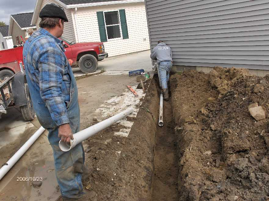 picture 2 basement sump line drainage for project in wayne
