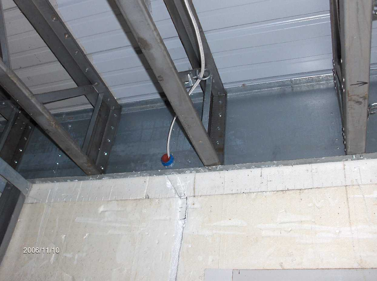 Light Gage Metal Framing For Icf House In Ira Township