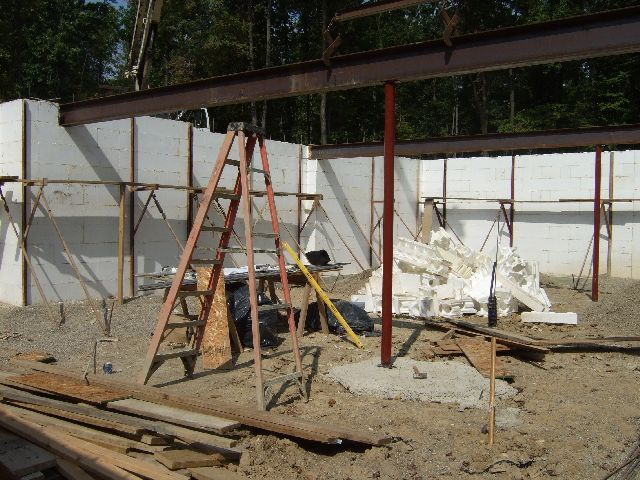 Structural steel framing first floor new icf house in ann for House framing 101