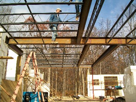Second-Floor-Steel-And-Open-Web-Joists-New-ICF-House-In-Ann-Arbor-Michigan-EneE1-AttM1-101-Picture-1