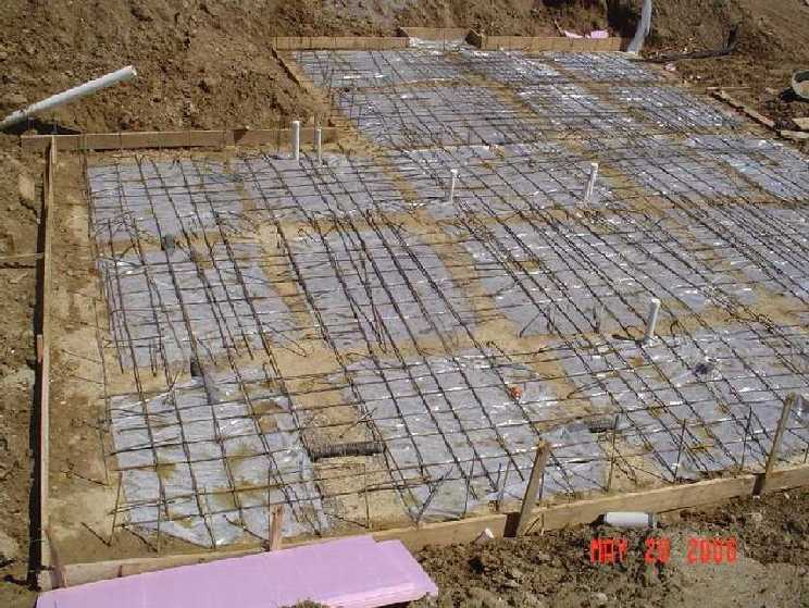 new-home-project -- concrete placement readiness for basement slab -- picture 1