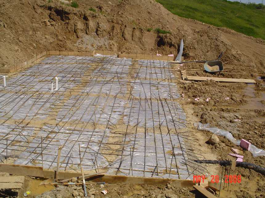 new-home-project -- concrete placement readiness for basement slab  -- picture 2
