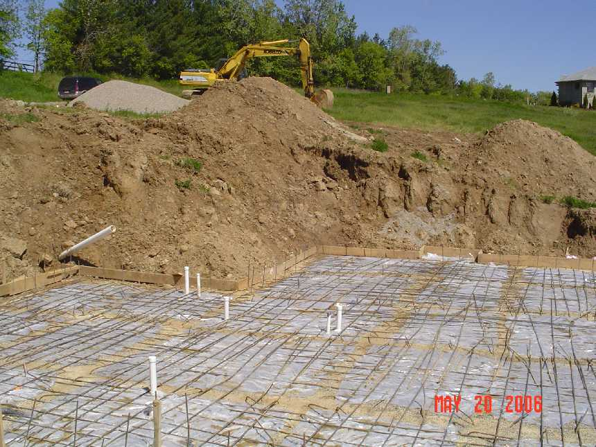 new-home-project -- concrete placement readiness for basement slab -- picture 4