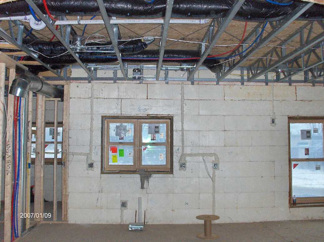 rough framing inspection for dan hossack icf house in independence rh energyefficientbuild com Home Electrical Wiring Basics Home Electrical Panel Wiring