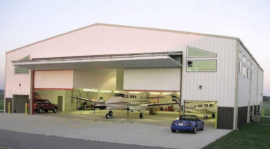 Aircraft hangar home plans - Home plan