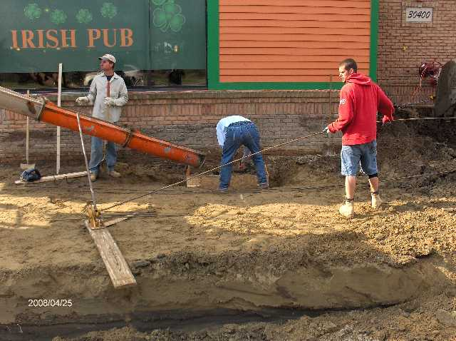 Rosie-O-Gradys-In-Chesterfield-Twp-Michigan_Concrete-In-Footings-For-Building-Addition-Picture-1
