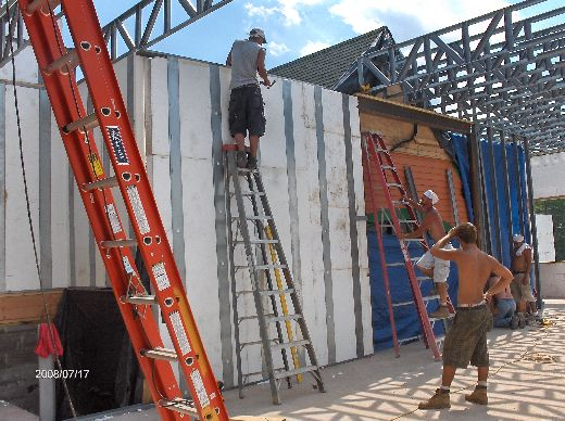 Rosie-O-Gradys_Completing-Installation-Of-Second-Floor-Load-Bearing-Walls-And-Roof-Joists-RosO1-101-Picture-2