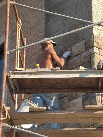 Rosie-O-Gradys_Building-Addition-Face-Brick-And-Stone-Veneer-Installation-Part2-RosO1-101-Picture-2