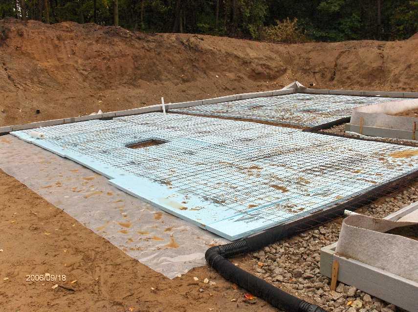 Insulation Under Basement Slab For Stehr House In Highland
