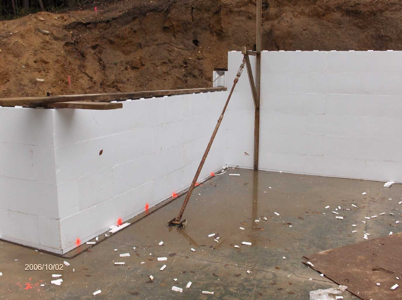 Basement icf walls for stehr house in highland twp michigan for Icf basement