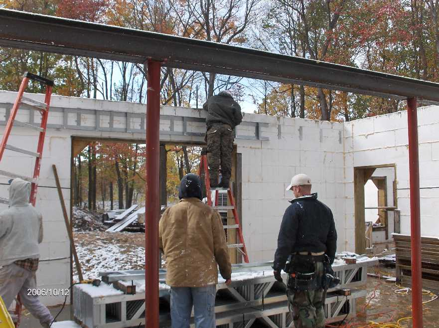 First Floor Steel Open Web Joists For Stehr House In