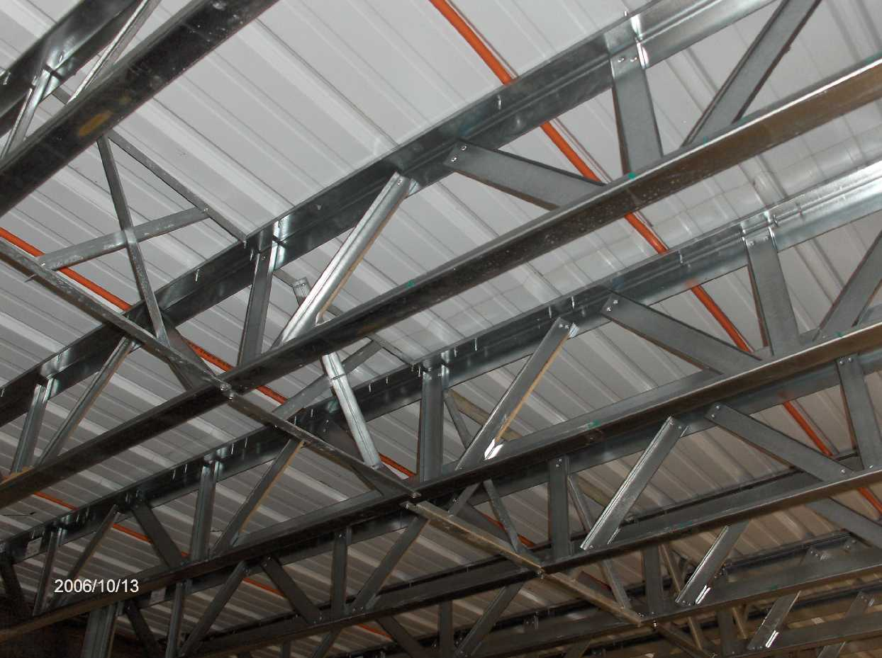 First Floor Steel Open Web Joists And Metal Deck For Stehr