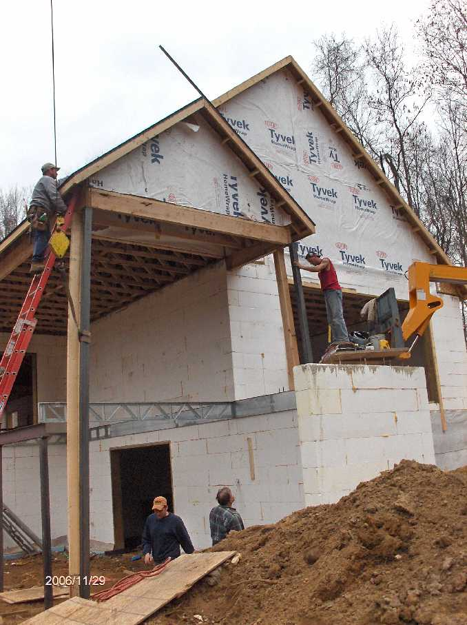 steel-framing-in-porch-area_for-Stehr-House-in-Highland-Twp-Michigan