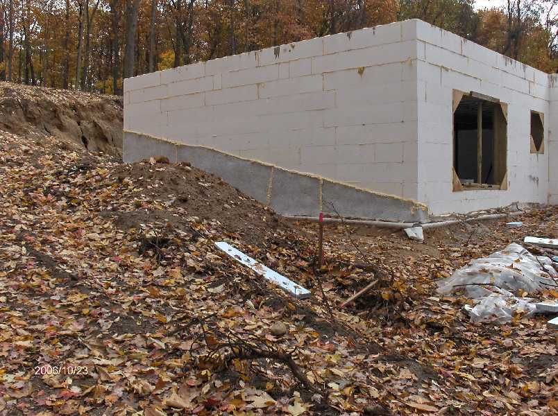 Waterproofing basement icf walls for stehr house in for Icf basement