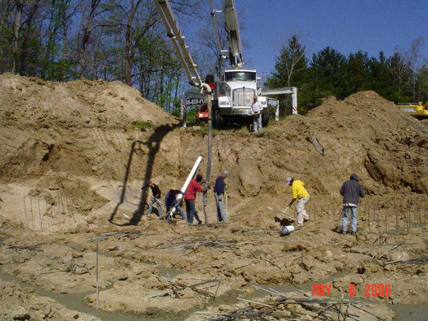 new-home-project -- concrete placement in foundation grade beams -- picture 1