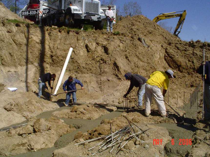 new-home-project -- concrete placement in foundation grade beams -- picture 3