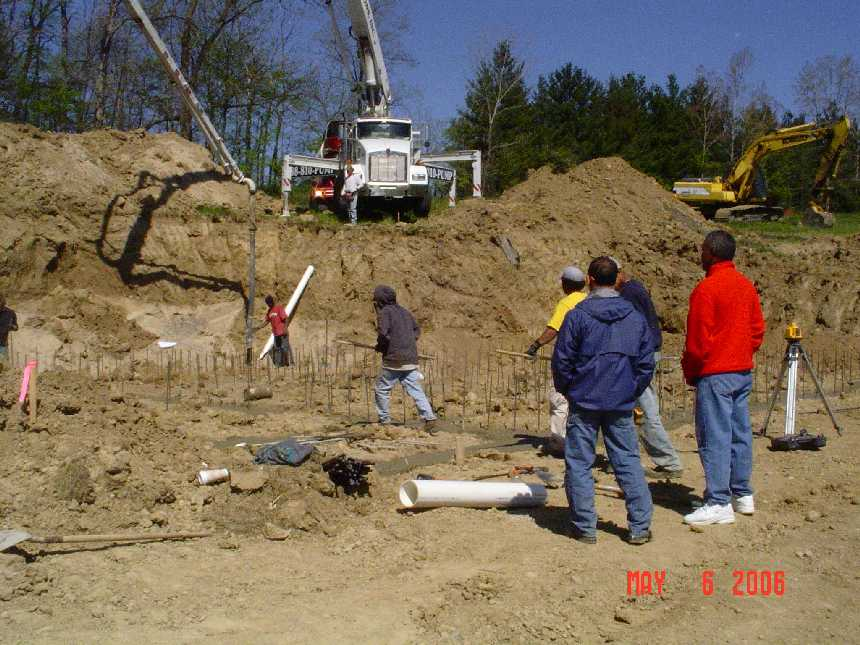 new-home-project -- concrete placement in foundation grade beams -- picture 4