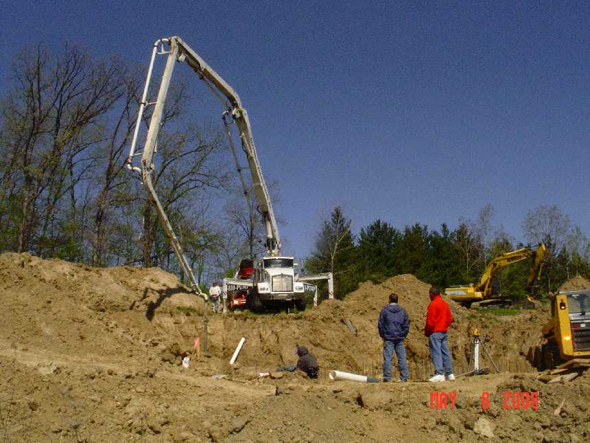 new-home-project -- concrete placement in foundation grade beams -- picture 6