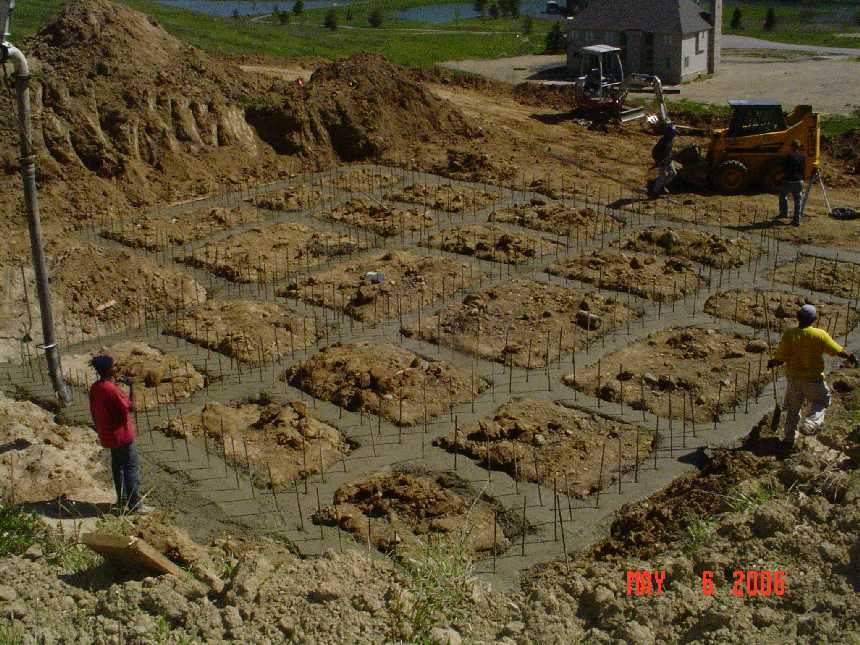 new-home-project -- concrete placement in foundation grade beams -- picture 7