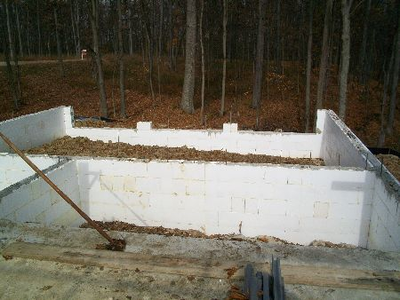 Laundry room and garage foundation walls new icf house in for Foundation for garage