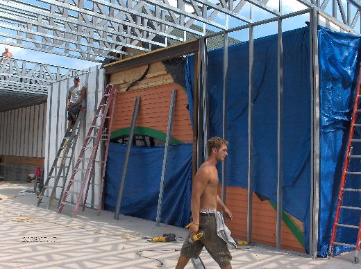 Rosie-O-Gradys_Completing-Installation-Of-Second-Floor-Load-Bearing-Walls-And-Roof-Joists-RosO1-101-Picture-1